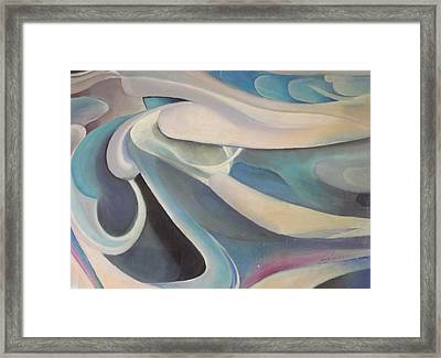 Blue Framed Print by Bernie Bishop
