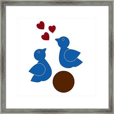 Blue Birds Framed Print by Frank Tschakert