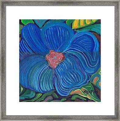 Blue Blilliance Framed Print by John Keaton