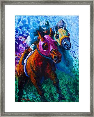 Blue Bloods Framed Print by Marion Rose