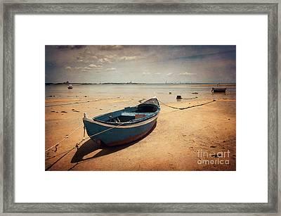 Blue Boat Framed Print by Carlos Caetano