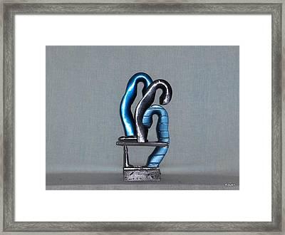 Blue Boys Framed Print by Kent Kanouse