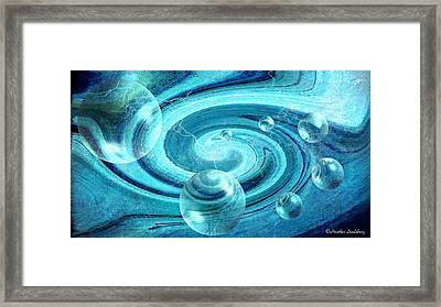 Blue Bubbles Framed Print by Heather Saulsbury