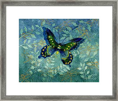 Blue Butterfly Framed Print by Hailey E Herrera