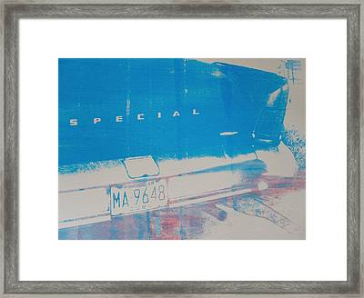 Blue Car Framed Print by David Studwell
