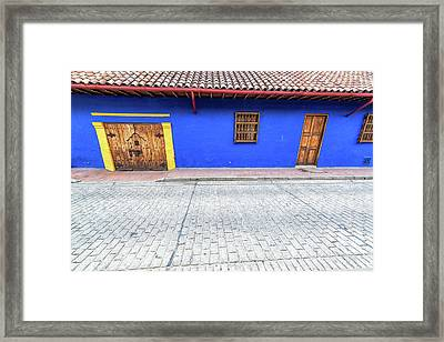 Blue Colonial Architecture Framed Print by Jess Kraft
