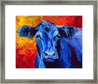 Blue Cow II Framed Print by Marion Rose