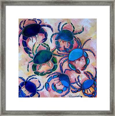Blue Crabs Framed Print by Patti Schermerhorn