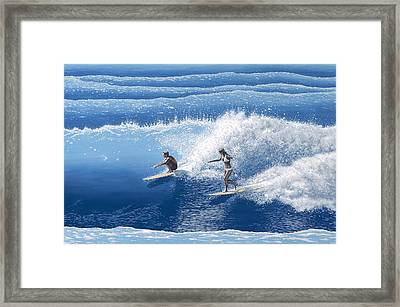 Blue Crush Framed Print by Andrew Palmer
