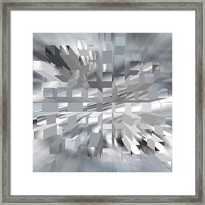 Blue Cubism - 1 Framed Print by Raymond Vango