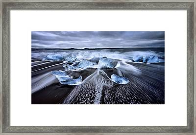 Blue Diamonds Framed Print by Jes?s M. Garc?a