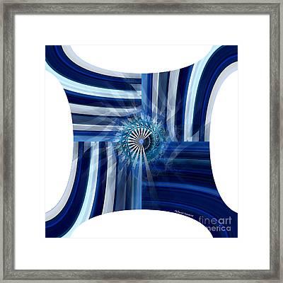Blue Dimension  Framed Print by Thibault Toussaint