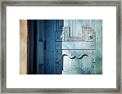 Blue Door Framed Print by Humboldt Street