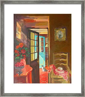 Blue Door Framed Print by William Ireland