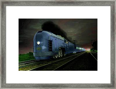 Blue Express Framed Print by Steven Agius