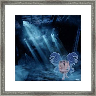 Blue Fairy Framed Print by Maggie  Smith