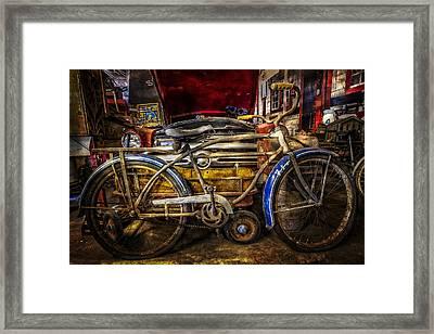 Blue Fenders Framed Print by Debra and Dave Vanderlaan