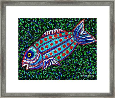 Blue Fish Framed Print by Sarah Loft