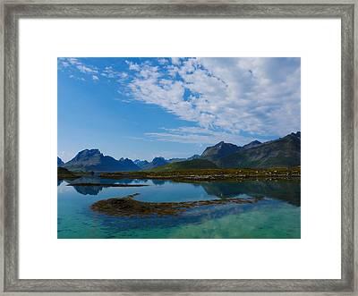 Blue Fjord Framed Print by Tamara Sushko