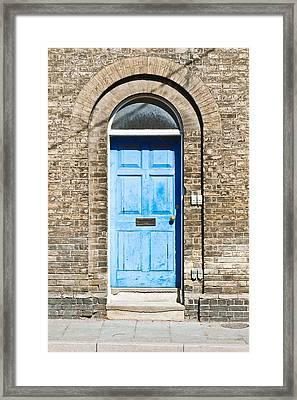 Blue Front Door Framed Print by Tom Gowanlock