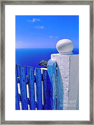 Blue Gate Framed Print by Silvia Ganora