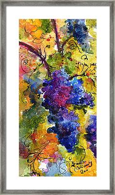 Blue Grapes Framed Print by Ginette Callaway
