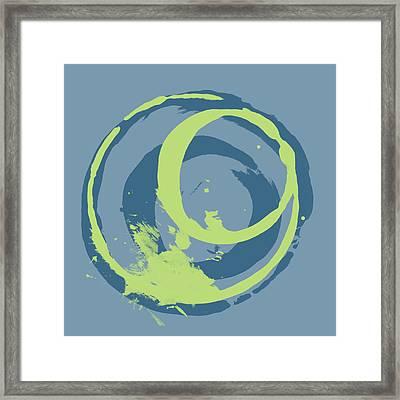 Blue Green 2 Framed Print by Julie Niemela