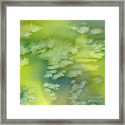 Blue Green And Yellow Abstract Watercolor Design 4 Framed Print by Sharon Freeman