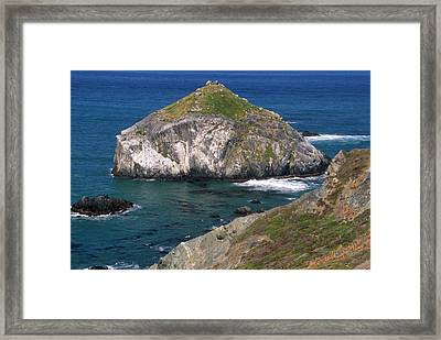 Blue Green Seas - Highway One Framed Print by Soli Deo Gloria Wilderness And Wildlife Photography