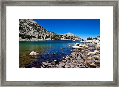 Blue Green Treasure Lake Framed Print by Chris Brannen