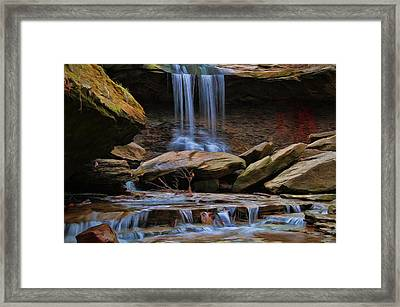 Blue Hen Falls In Cuyahoga Valley National Park Framed Print by Dan Sproul