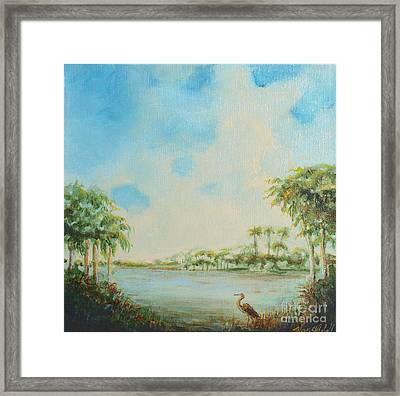 Blue Heron Pointe Framed Print by Michele Hollister - for Nancy Asbell