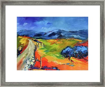 Blue Hills By Elise Palmigiani Framed Print by Elise Palmigiani