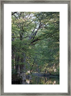 Blue Hole Morning Framed Print by James Woody