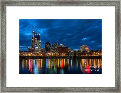 Blue Hour Reflections Framed Print by Anthony Heflin