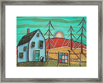 Blue House 1 Framed Print by Karla Gerard