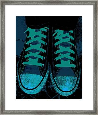 Blue Jean Blues Framed Print by Ed Smith