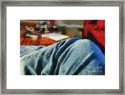 Blue Jean Morning Framed Print by Paulette B Wright