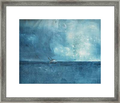 Blue Framed Print by Kristina Bros