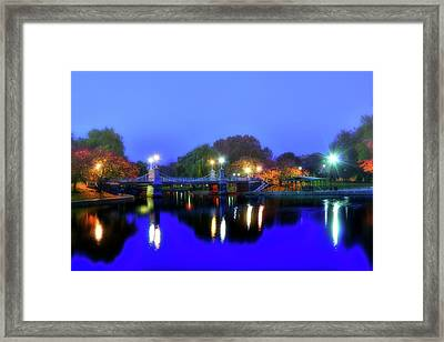 Blue Lagoon - Boston Public Garden Framed Print by Joann Vitali