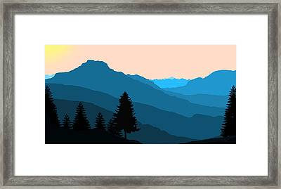 Blue Landscape Framed Print by Thomas M Pikolin