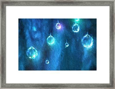 Blue Light Framed Print by Kathy Bassett