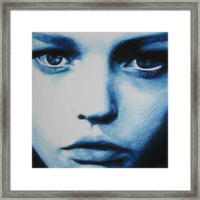 Blue Framed Print by Lynet McDonald