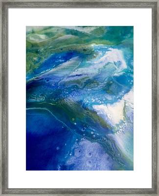 Blue Abstract Earth Framed Print by Malin Schramm