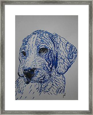 Blue Framed Print by Maria Woithofer
