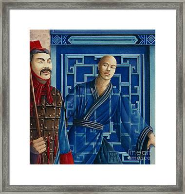 Blue Monk Framed Print by Melissa A Benson