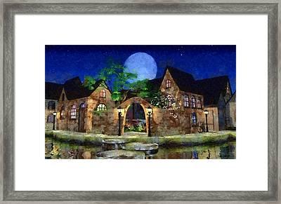 Blue Moon Painted Framed Print by Cynthia Decker