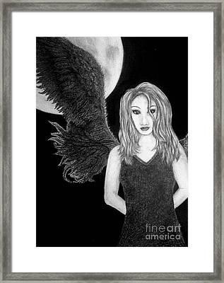 Blue Moon Surrender Framed Print by Wendy Wunstell