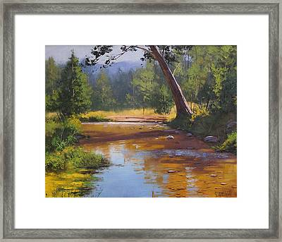 Blue Mountains Coxs River Framed Print by Graham Gercken