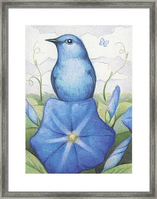Blue On Blue Framed Print by Amy S Turner